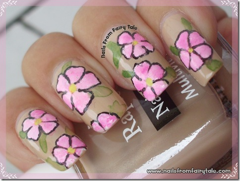 nude with pink flowers 3
