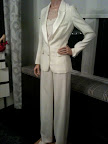 YSL white suit -- perfect for city hall, a 2nd wedding, or because you just want to look modern.