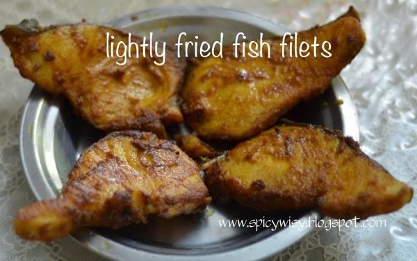 Lightly fried fish filets