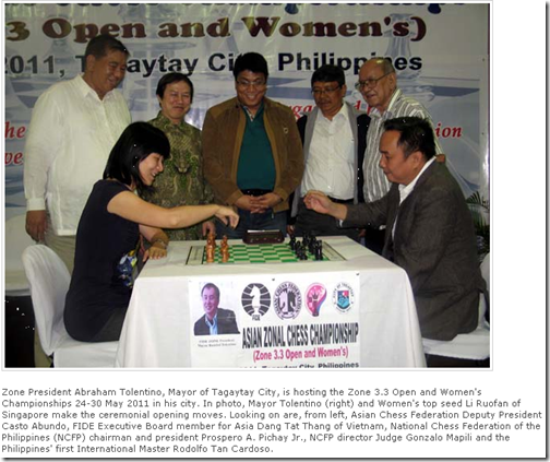 Opening Ceremony of Asian Zonal 3.3 Chess Ch 2011
