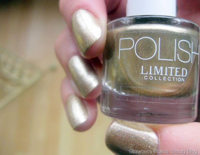 M&S Limited Collection Nail Polish GOLD swatches