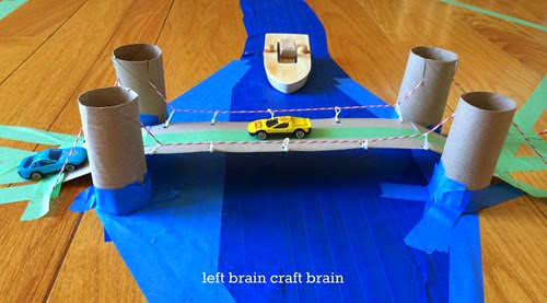 DIY Recycled Suspension Bridge - Left Brain Craft Brain
