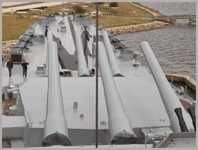 "16"" guns...""The BIG GUNS""..USS Alabama"