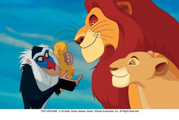 """THE LION KING""  (L-R) Rafiki, Simba, Mufasa, Sarabi  ©Disney Enterprises, Inc.  All Rights Reserved."