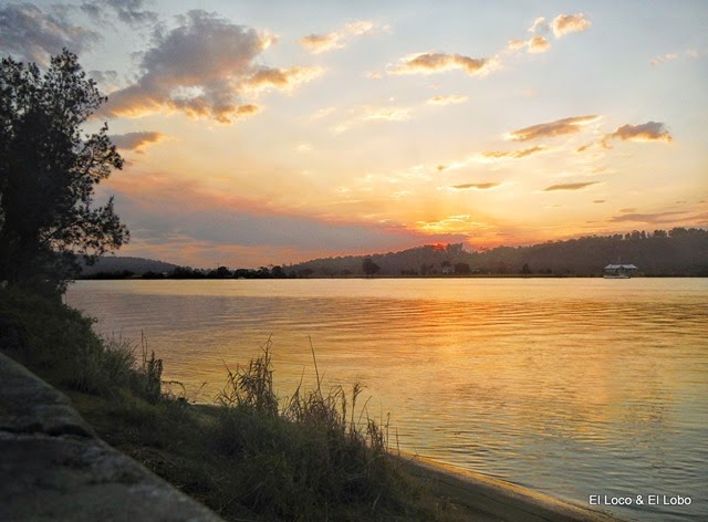 Sunset on the Clarence River at Maclean