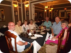 Dinner with our Bonifay group