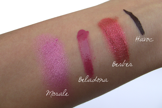 Illamasqua - Theatre of the Nameless - Swatches