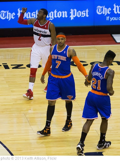 'John Wall, Carmelo Anthony' photo (c) 2013, Keith Allison - license: http://creativecommons.org/licenses/by-sa/2.0/