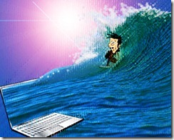 Surf Internet Cartoon
