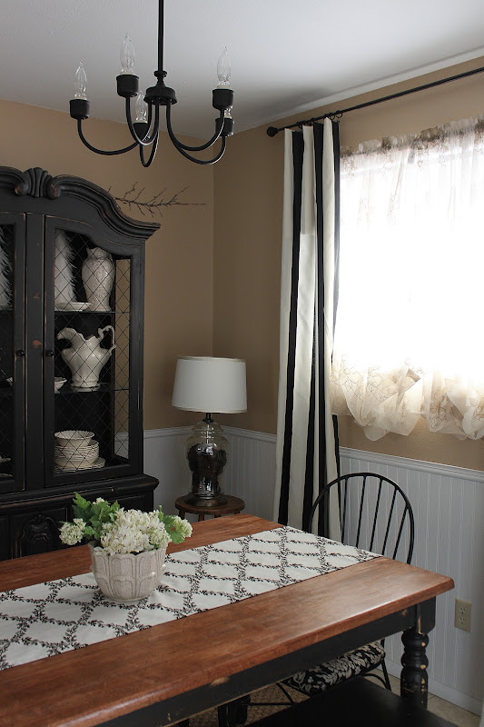 black distressed dining table set and hutch sold vintage farm