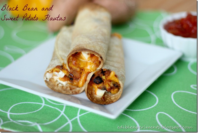 Black Bean, Corn, and Sweet Potato Flautas