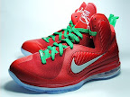nike lebron 9 gr christmas 7 01 Throwback Thursday: Look Back at LBJs 2011 Christmas Shoes