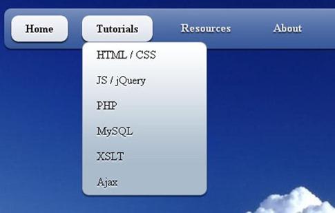 Menú desplegable simple y fresco en CSS3