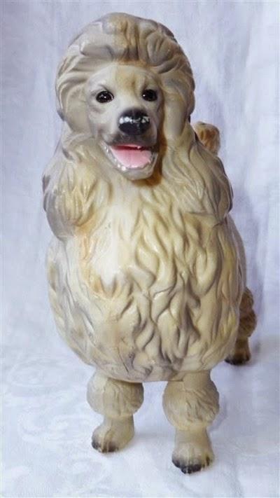plastic poodle figurine front