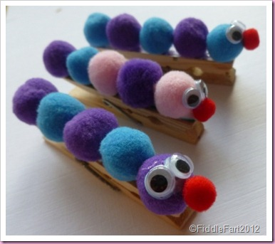 Caterpillar Fridge Peg Magnets