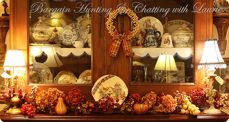 Bargain Hunting &amp; Chatting with Laurie Fall hutch