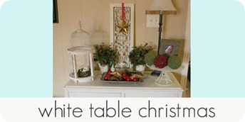 white table christmas
