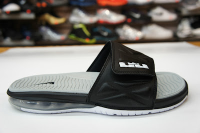nike air lebron slide 2 black grey 1 08 Nike Air LeBron Slide 2.0   Black / Grey   Available at eBay