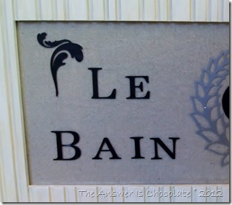 Vinyl Paris Bath Sign