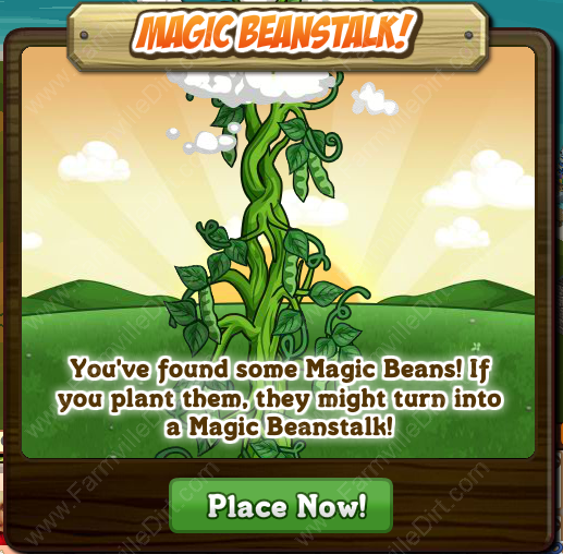 Farmville Magic Beanstalk Popup