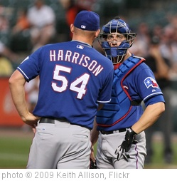'Matt Harrison and Taylor Teagarden' photo (c) 2009, Keith Allison - license: http://creativecommons.org/licenses/by-sa/2.0/