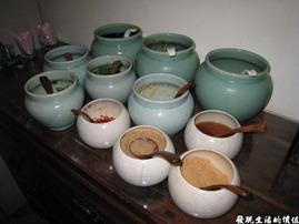 台北-魯旦川鍋。火鍋料的佐料