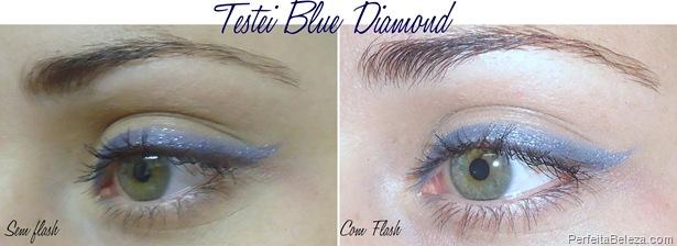 lápis delineador com glitter Vult blue diamond