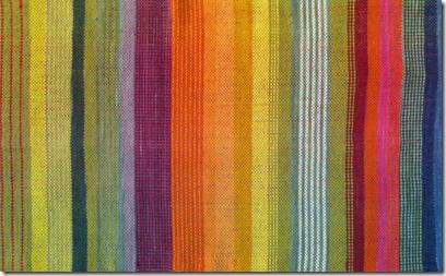 Stoff handgewebt pflanzengefärbt Detail1
