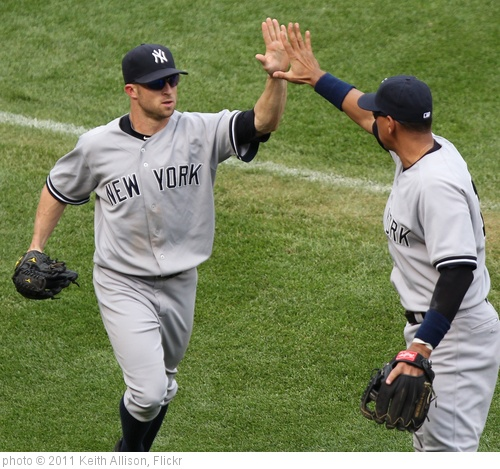 'Brett Gardner and Alex Rodriguez' photo (c) 2011, Keith Allison - license: http://creativecommons.org/licenses/by-sa/2.0/