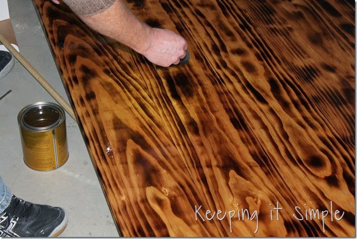 DIY-Dining-Table-With-Burned-Wood-Finish #Bernzomatic (39)