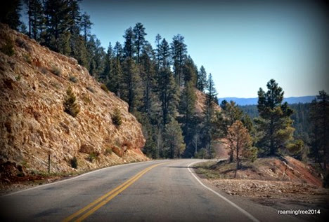 On the way to Bryce Canyon