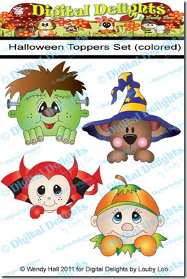 Halloween Toppers set color