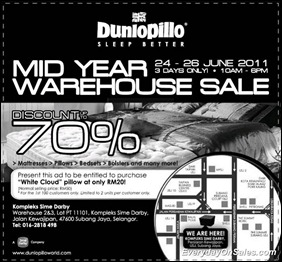 Dunlopillo-Mid-Year-Warehouse-Sale-2011-EverydayOnSales-Warehouse-Sale-Promotion-Deal-Discount