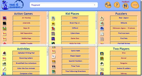 Time for learning playground page