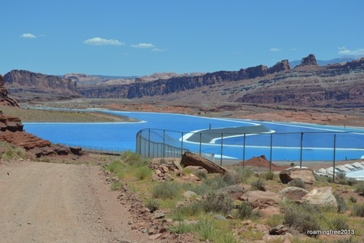 Potash Pools - amazing blue color!