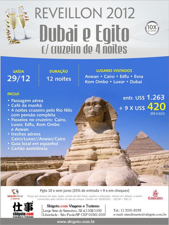 Reveillon em Dubai e Egito