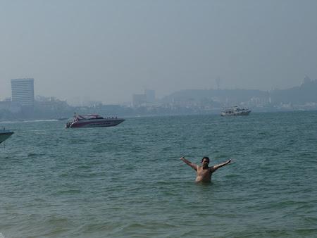 Pe plaja in Pattaya