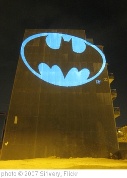 'Batman Bat Signal, laser light graffiti, Barcelona' photo (c) 2007, Si1very - license: http://creativecommons.org/licenses/by-sa/2.0/