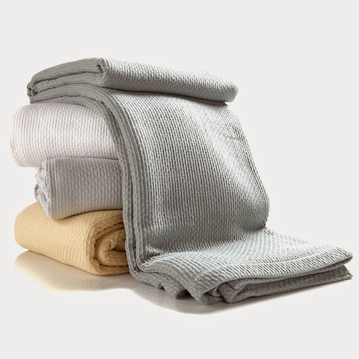 Alexa Hampton Home Egyptian Cotton Blanket Available in White, Yellow, Grey and Sage   HSN Price: $44.95