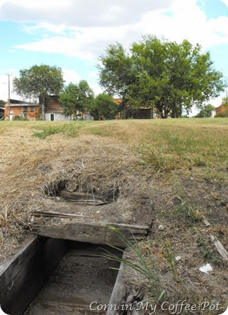 drainage ditch- trestle back of town