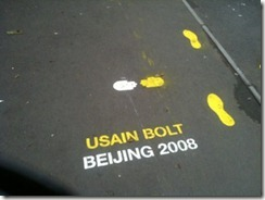 Usain Bolt's Beijing 2008 Race straide pattern