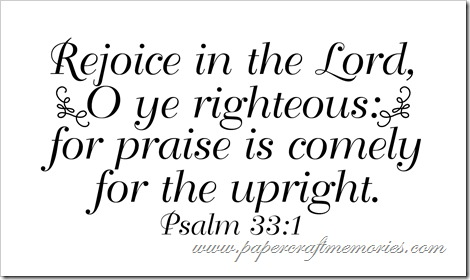 Psalm 33:1 for WAW personal use only