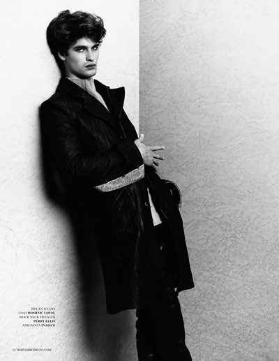 Dylan Reitz by Richard Pier Petit for The Fashionisto W/S 2012.  Styled by Carl Barnett.