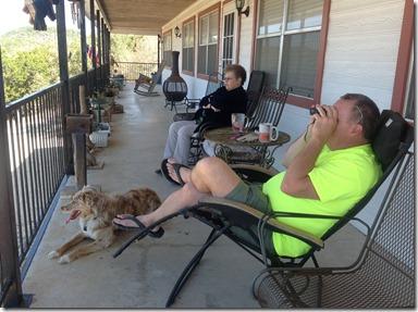 John and Sylvia on porch