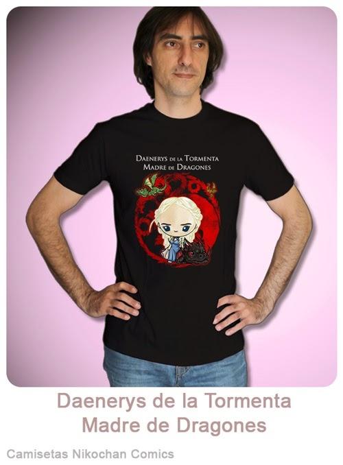 Camiseta unisex con diseño kawaii de Daenerys de la Tormenta, madre de Dragones