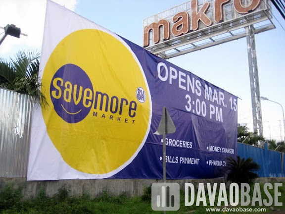 SM Savemore Market opens March 15, 2012 at the old Makro site in Bangkal, Davao City