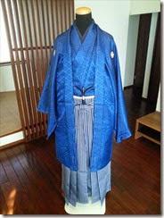 男性着物の着付け練習 (2)