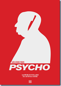 Minimalist Hitchcock Movie Posters