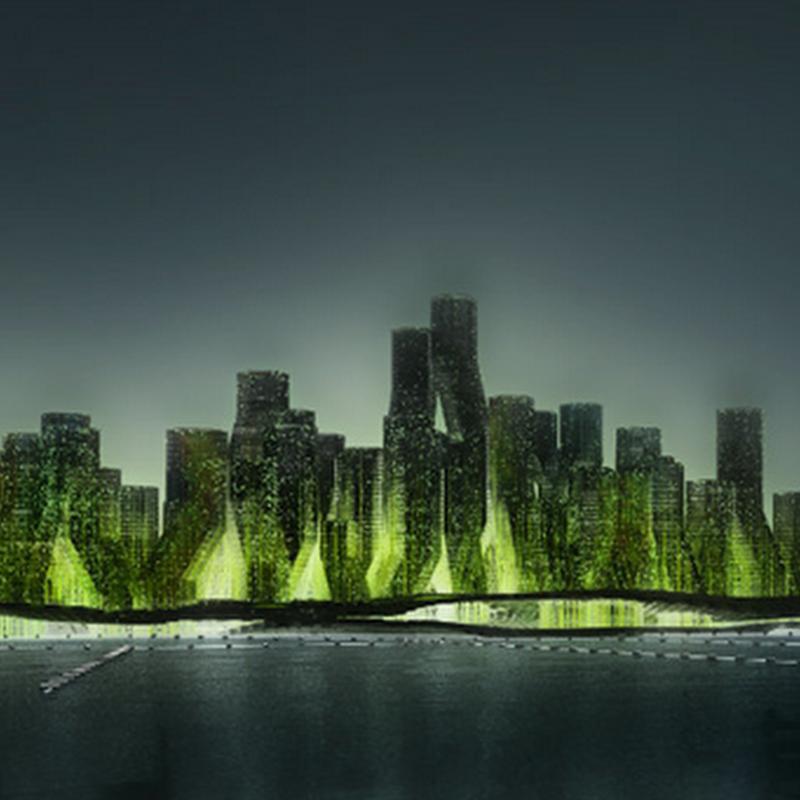 Proyecto Ciudad flotante que transforma el CO2 en biodiesel