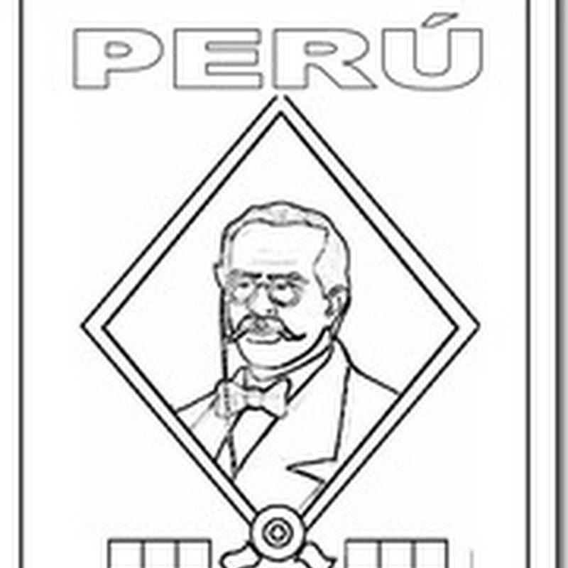 colorear escritor Ricardo Palma